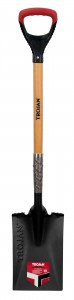 POWERSTEP GARDEN SPADE DEE GRIP TIMBER HANDLE