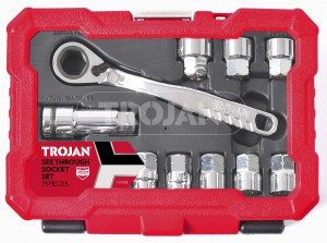 13 PIECE SEE THROUGH SOCKET SET